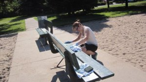 Préparatifs banc parc